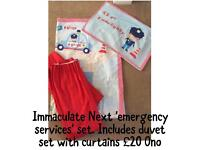 Next 'emergency services' bedroom set