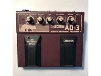 Boss AD-3 Acoustic Instrument Processor (Reverb+Chorus+Antifeedbaker)