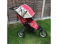 Baby Jogger Red Sport City Single Seat Stroller also with deluxe bassinet