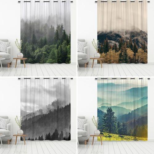 Nebliger Berg Verdunkelungsvorhang Fenstervorhänge Wärmeisolierte Verdunklung