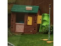 SOLD ....Little tikes log cabin play house