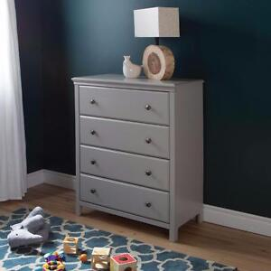 South Shore Cotton Candy 4-Drawer Chest - Soft Gray Model #: 9020034