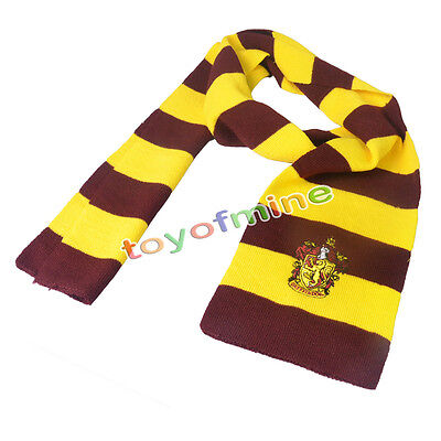 Harry Potter Gryffindor Wool Knit Fashion Warm Soft Scarf Wrap Costume Xmas Gift