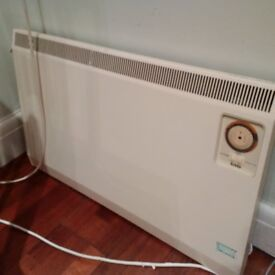 900W slimline wall mounted electric panel heater with timer