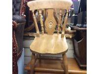 3x country farmhouse dining chairs