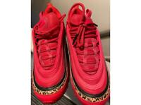 Red Nike air max 97 trainers