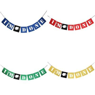 Graduation Bunting I'M DONE Graduation Cap Garland Hanging Party Decor](Party I)
