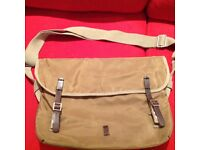 BEN SHERMAN - Beige Canvas Messenger Shoulder Bag - Beige/Brown/Oatmeal