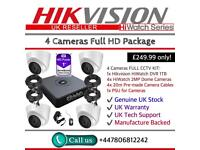 Hikvision HiWatch CCTV: 4CH Hikvision Turbo-HD Cube, 4x Hikvison 1080P Dome Cameras