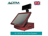 Touch Screen Point of Sale Terminal with Customer Pole Display for EPOS POS System