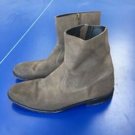 Zadig & Voltaire super-stylish mens zip leather ankle boots. UK 7.5