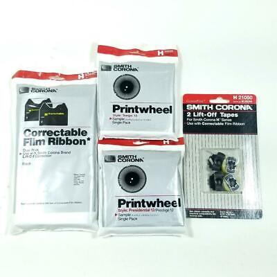 3 Pc Lot - Smith Corona Printwheel Lift-off Tapes Correctable Film Ribbon
