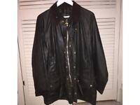 Men's Barbour Waxed Jacket Green size Large