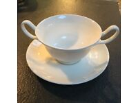 5 Wedgwood soup bowls and saucers
