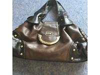 Brown handbag..