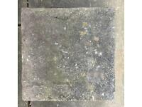 Decorative Paving Slabs - riven top and sides (sold as EACH). Weathered. Size 44x44 cm