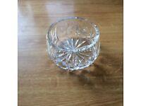Small cut glass bowl