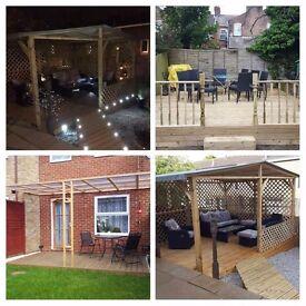 Gazebos,fences, sheds, decking, patios building and decking lights installation
