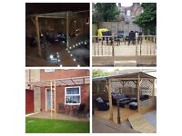Gazebos,fences, sheds, decking, patios building and decking lights installation
