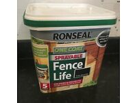 New Ronseal fence paint