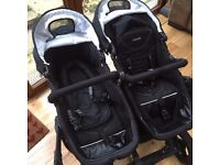 Obaby Zezu Twin Pram - Multi Positions from Baby to Toddler