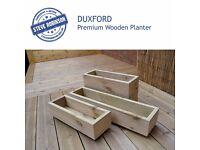 Premium Wooden Garden Planter/Window Box/Trough/Decking/Herb/Flower.