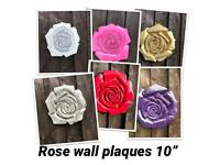Large Rose garden wall plaque