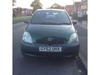TOYOTA YARIS 12months mot very clean and tidy recent service Green 4 door hatchback