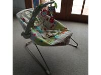 Fisher price 'woodland friends' baby bouncy chair with activity bar