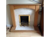 Gas Fire, hearth and surround