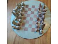 Soapbox chessboard with pieces