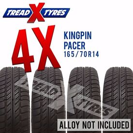 4 x New 165/70R14 Kingpin Pacer Tyre - 165 70 14 - Fitting Available