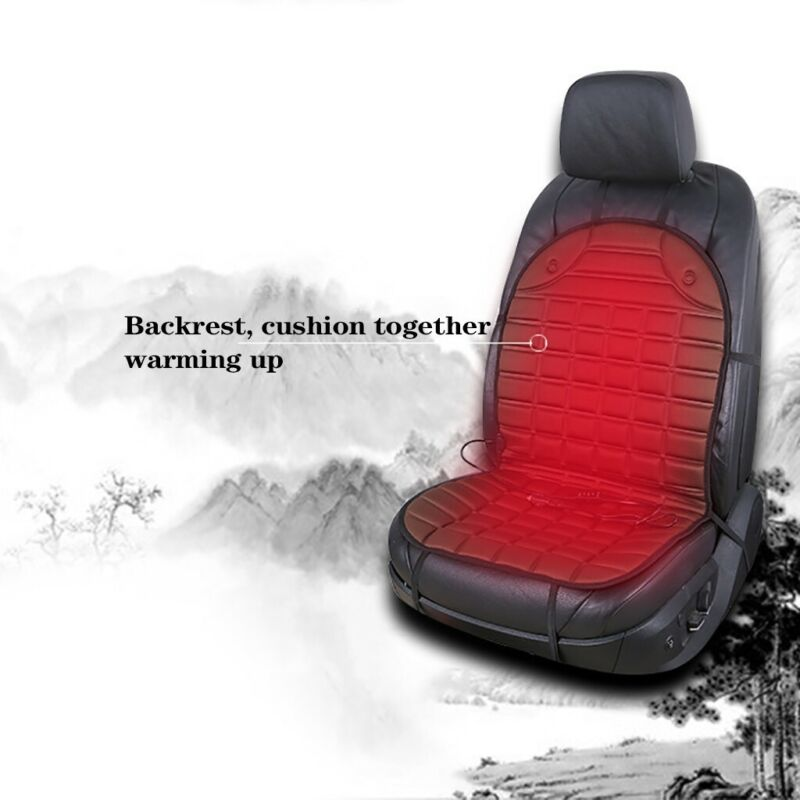 DC 12V Auto Car Seat Heated Mat Cushion Cover Heating Pad Heater Winter Warmer