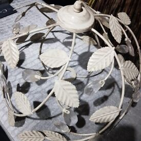Shabby chic ceiling lampshade