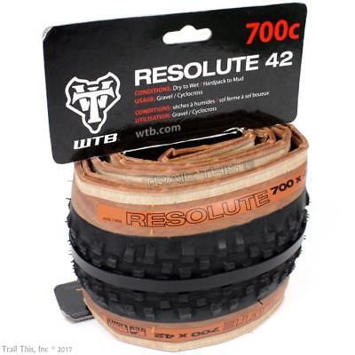 WTB Resolute 700 x 42 TCS Gravel / CX Bike Tire Tubeless Rea