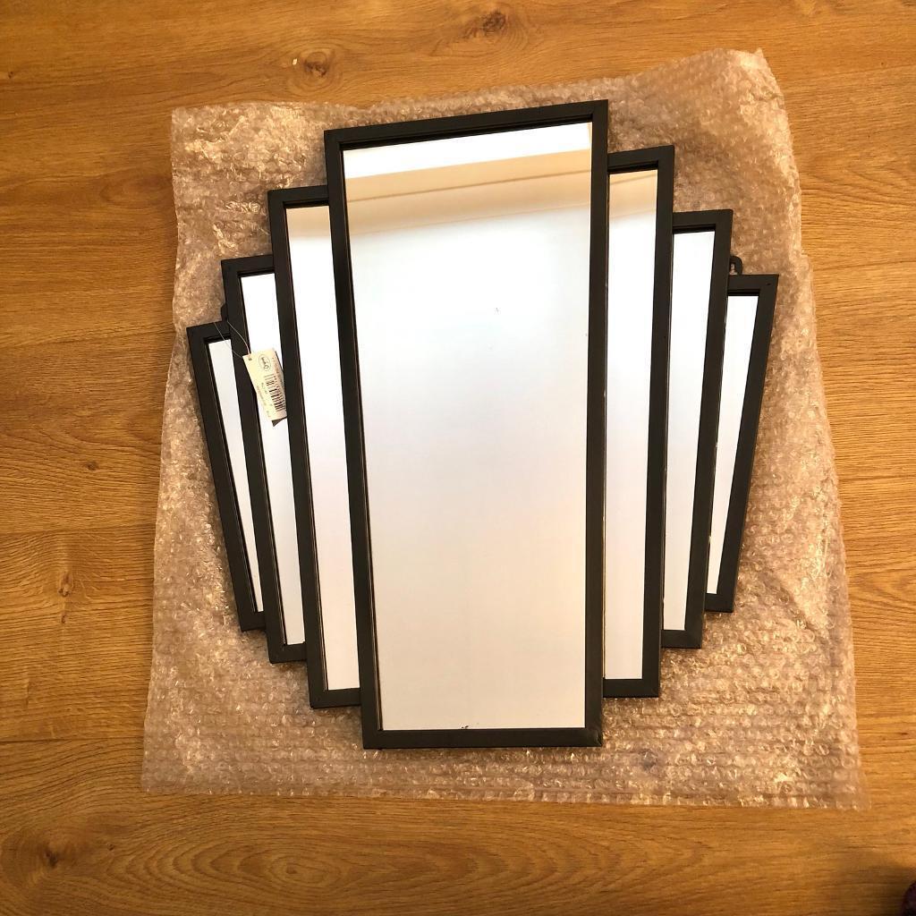 New large art deco mirror fan