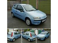 Fiat punto 1.2 in blue with full mot. Lady owned. Lovel clean car