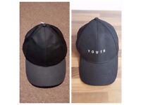 HAT TRICK DUO | 2 Men's Black Caps | New 'Youth' Embroidered Hat | 6 Panel Adjustable Baseball Cap