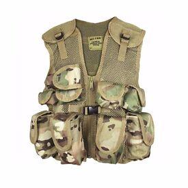 Mil-Com Kids Assault Vest Multi-Camo