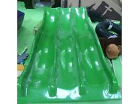 Kids Green triple lane wavy slide, 2.5 metres long, great for soft play setting, only £800