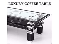 Black Coffee Table with Shelf Living Room Home Furniture Modern Contemporary Design