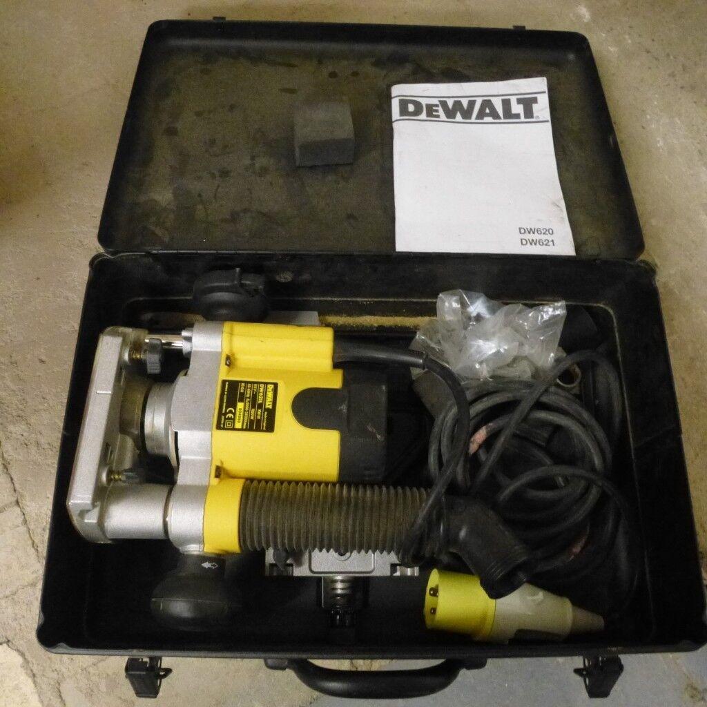 """DeWalt DW621L Plunge Router 110v 1100w 1/4"""""""