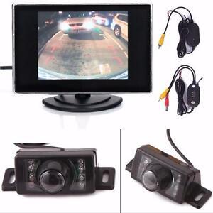 "Backup Reverse License Plate Camera + 3.5"" On-Dash Color Monitor"