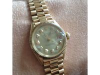 VINTAGE Rolex Ladies Datejust President 69178 18k Solid YELLOW Gold Factory Diamond Dial