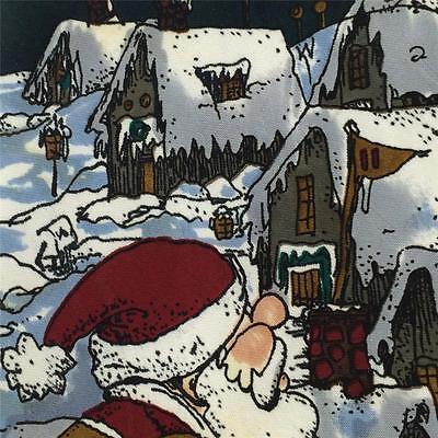 ANONYMOUS TIES BLACK WHITE SANTA HUTS ON SNOW Christmas Necktie X6-342 Classic