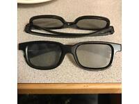 3D glasses x2