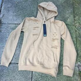King Kouture beige hoodie size small