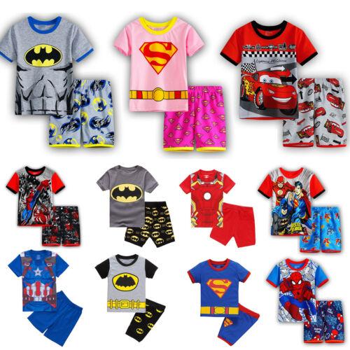 Toddler Kids Boy Girl Cartoon Sleepwear Baby Nightwear Tops