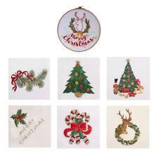Weihnachten Stickbild Stickvorlage Sticken Stickset mit Anleitung Geschenk f/ür Geburtstag dailymall Kreuzstich Stickpackung vorgedruckt B/ären