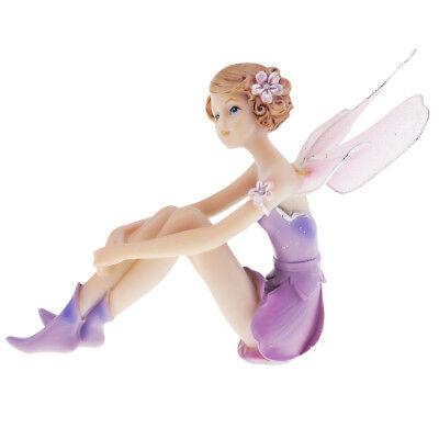 Fee Figur Puppe mit Flügeln Handwerk Dekorative für Hochzeitsgeschenk Lila ()